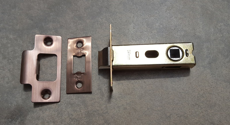 Copper Internal Mortice Door Latch - 2.5 Inch (45mm Backset) and 3 Inch (57mm Backset)