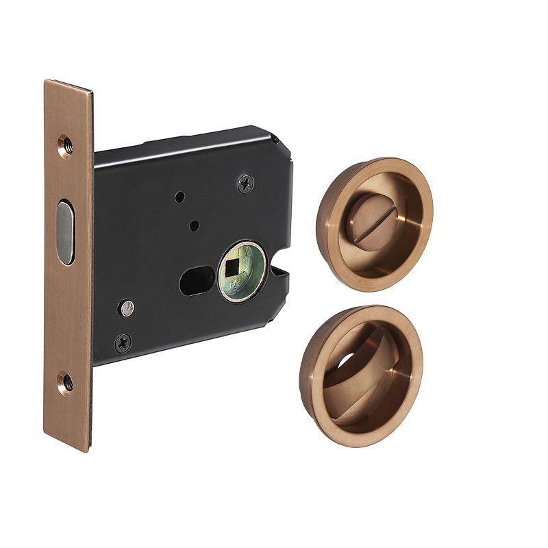 Copper Sliding/Pocket Door Locking Kit