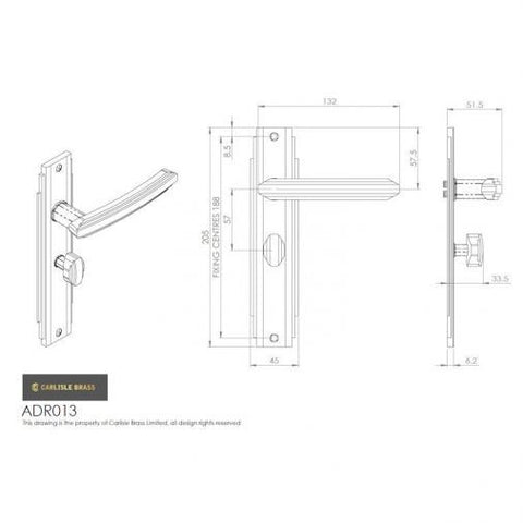 Carlisle Brass Art Deco Style Door Handles Satin Nickel - ADR011SN