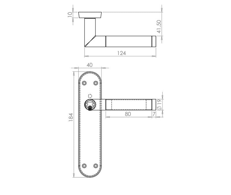 Complete Door Handle Latch Pack Mitred Design - JV437