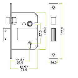DIAGRAM FOR 65mm & 76MM LOCKS