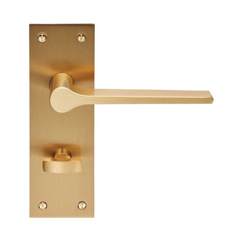 VELINO SATIN BRASS BATHROOM HANDLE - EUL023SB