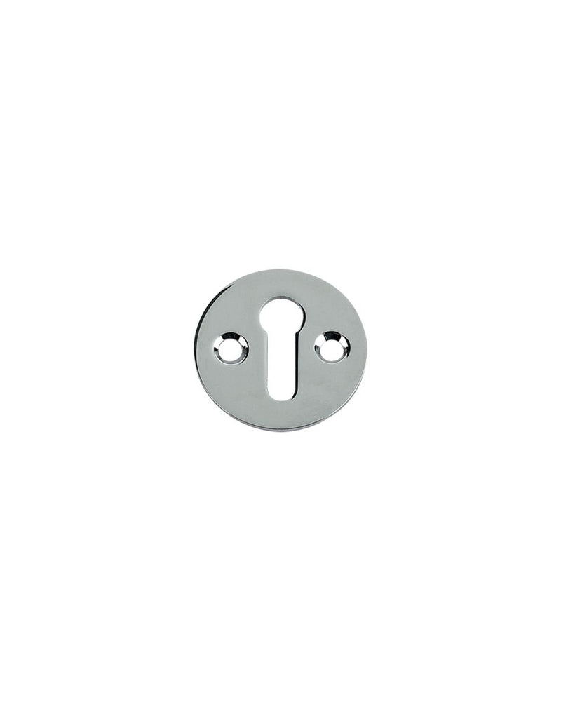 Fulton & Bray FB10 32mm Standard Profile Open Keyhole Escutcheon - POLISHED CHROME