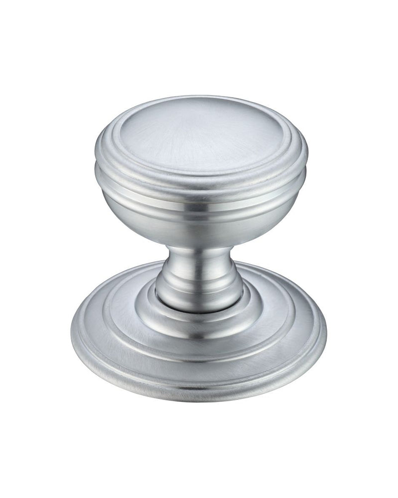 Fulton & Bray FB305SC Ringed Concealed Fix Mortice Knobs - Satin Chrome
