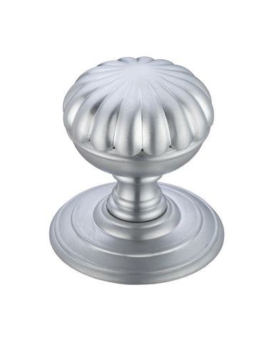 Fulton & Bray FB307SC Flower Concealed Fix Mortice Knobs - Satin Chrome