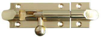 Polished Brass Bell Shaped Bolt 75mm x 32mm