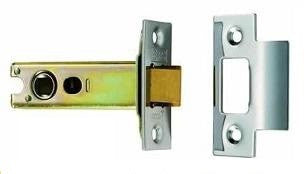 Popular Internal Mortice Door Latch, JL120 - NICKEL PLATE, BRASS