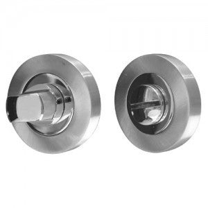 Satin Nickel/Polished Chrome Dual Finish Bathroom Turn and Release JV2666SNPC