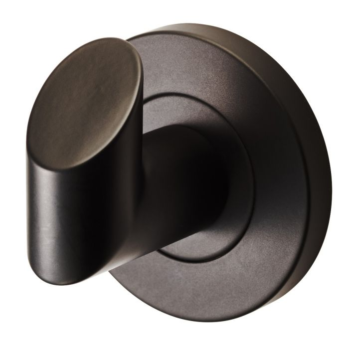 Matt Black Stainless Steel Single Robe Hook - Concealed Fixing