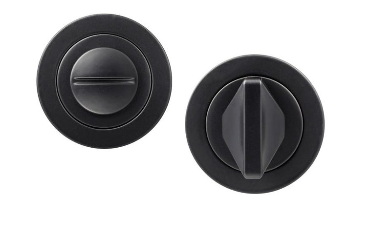 Matt Black Round Rose Bathroom Turn and Release Mechanism