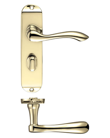 Arundel Lever on Backplate - Chrome, Satin or Brass
