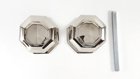 Polished Nickel Octagonal Mortice Door Knobs - SB2110PNP