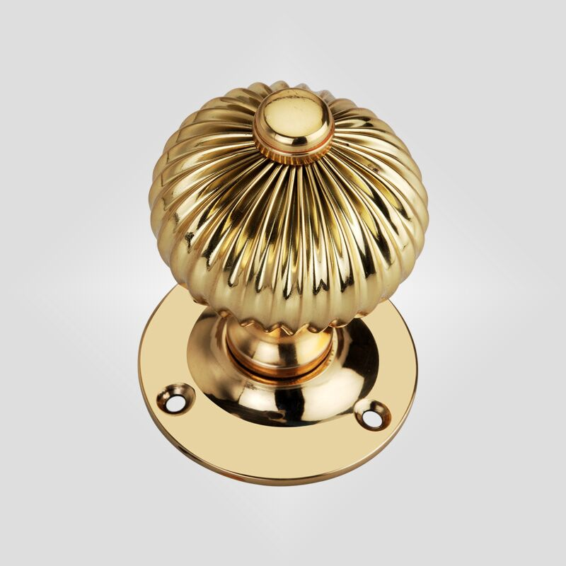 Polished Brass Regency Mortice Door Knobs (Solid Brass) - SB2111PB - SPIRA BRASS