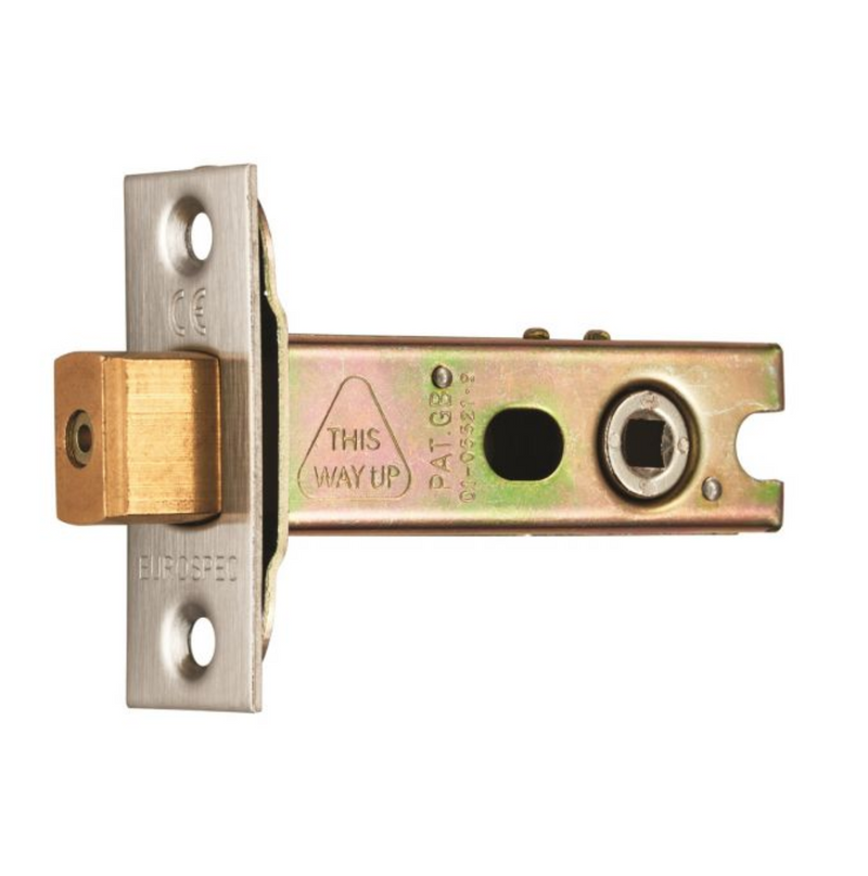 Satin Brass Bathroom Mortice Deadbolt - 2.5, 3, 4 & 5 Inch