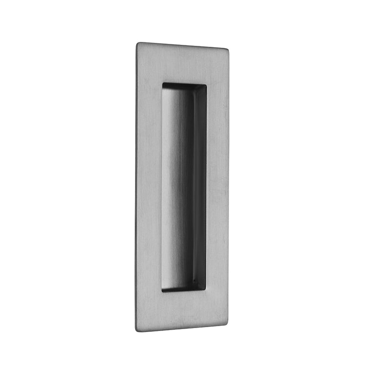Satin Stainless Steel Pocket/Sliding Door Rectangular Flush Pull Handle - 120mm x 50mm
