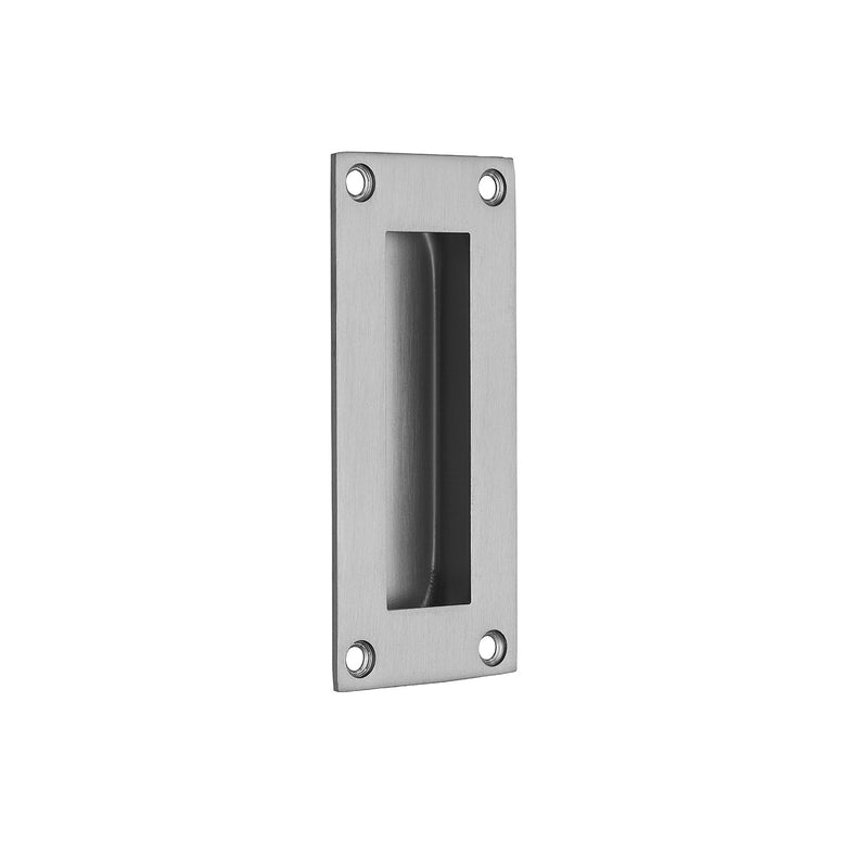 Stainless Steel Pocket/Sliding Door Rectangular Flush Pull Handle - 102mm x 45mm