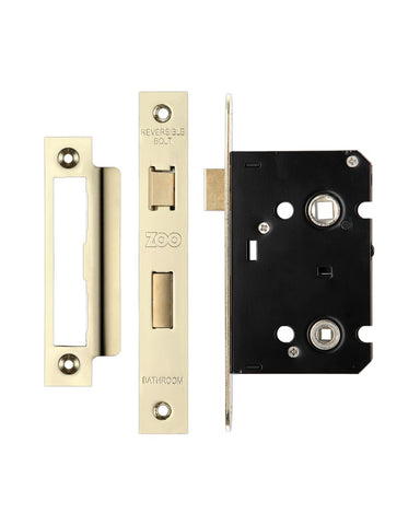 64mm Bathroom Lock Electro Brass 44mm Backset