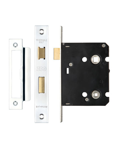 POLISHED CHROME 3 INCH BATHROOM LOCK