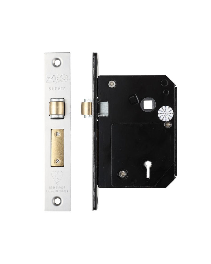 80.5mm Case British Standard Insurance Approved 5 Lever Chubb Retro-Fit Roller Bolt Sash Lock