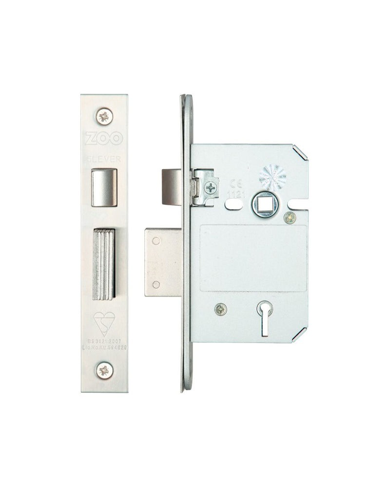 5 Lever Insurance Approved Mortice Sash Lock, 2.5 Inch - BS3621 - VARIOUS FINISHES