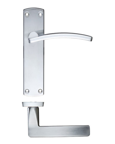 Toledo Lever on Back Plate, Satin Chrome - LATCH