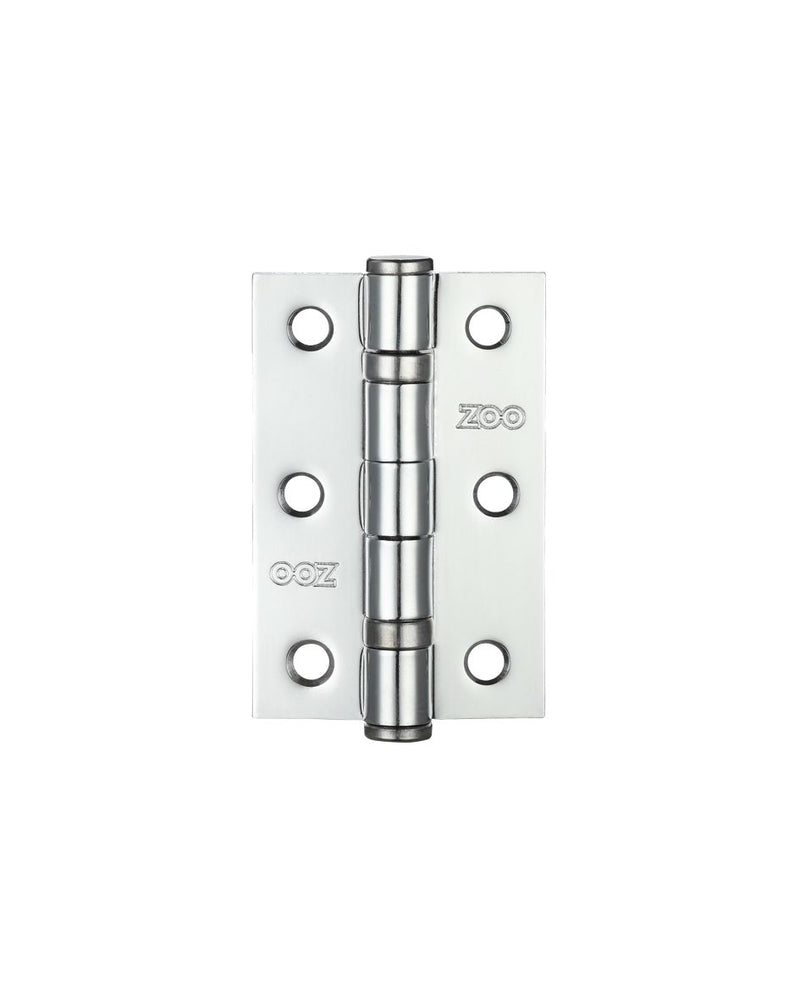 Zoo Hardware, ZHS32PC 3 Inch Ball Bearing Hinges - Polished Chrome