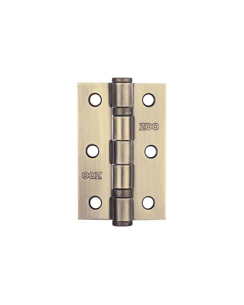 Zoo Hardware, ZHS32FB 3 Inch Ball Bearing Hinges - Florentine Bronze