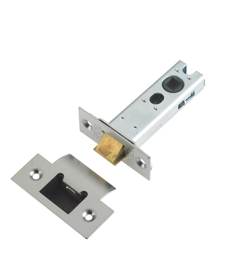 Double Sprung Tubular Mortice Latch - Architectural Quality - Satin, Chrome, Matt Black, Bronze, Brass