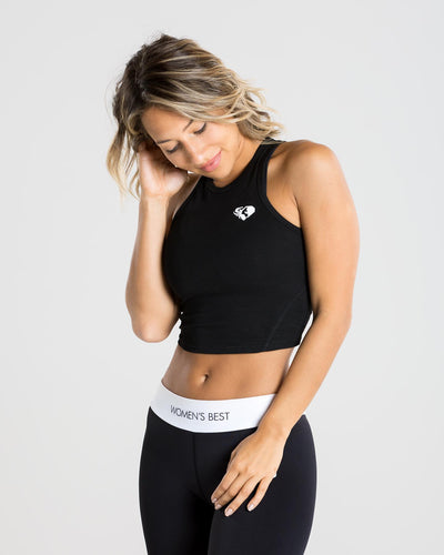 Fit Crop Top | Black