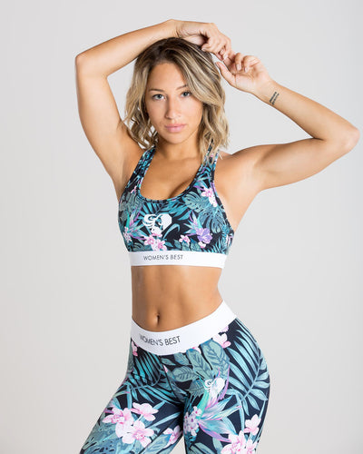 Sculpture Sports Bra | Paradise/Green