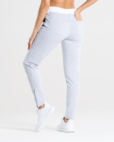 Fit Joggers | Grey/White