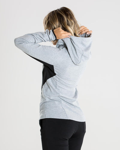 Fit Zip Hoodie | Grey/Black