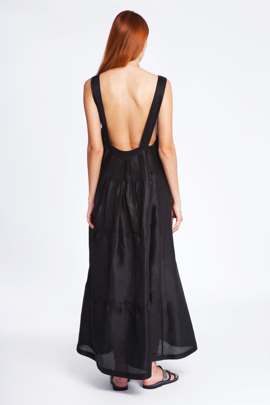 Open back straight dress