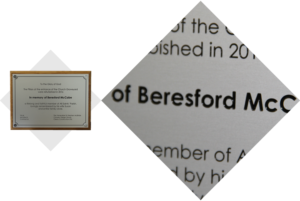 Hayes and Finch Church Suppliers | Bespoke Engraved Plaque