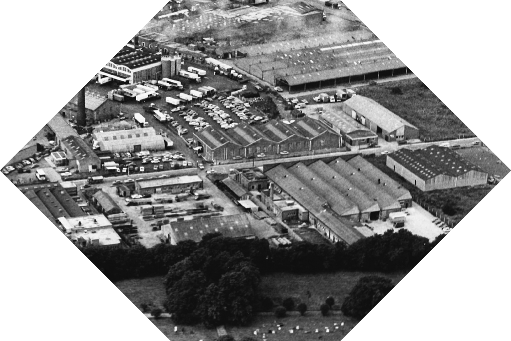 Hayes and Finch Church Suppliers | Past Head Office Aerial View
