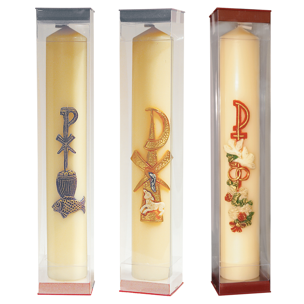 "12"" x 2"" beeswax sacramental wax relief candle - communion baptismal and marriage"