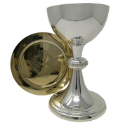 celtic silver plate chalice and paten
