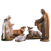 "24"" fibreglass crib set - jesus mary joseph ox and ass"