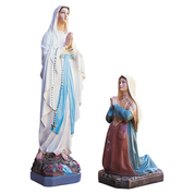 "our lady of lourdes 24"" fibreglass statue with matching st bernadette statue"
