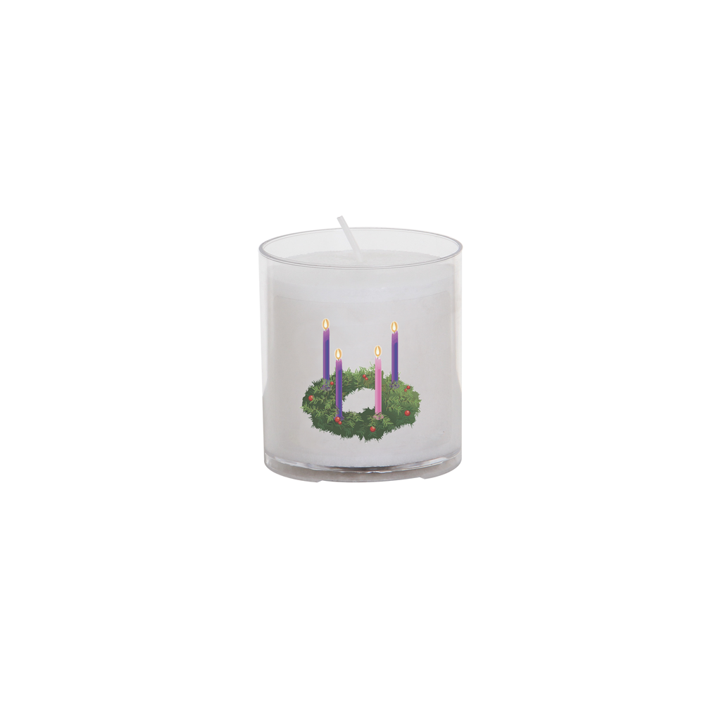 christmas seasonal transfer 24 hour votive light - advent wreath
