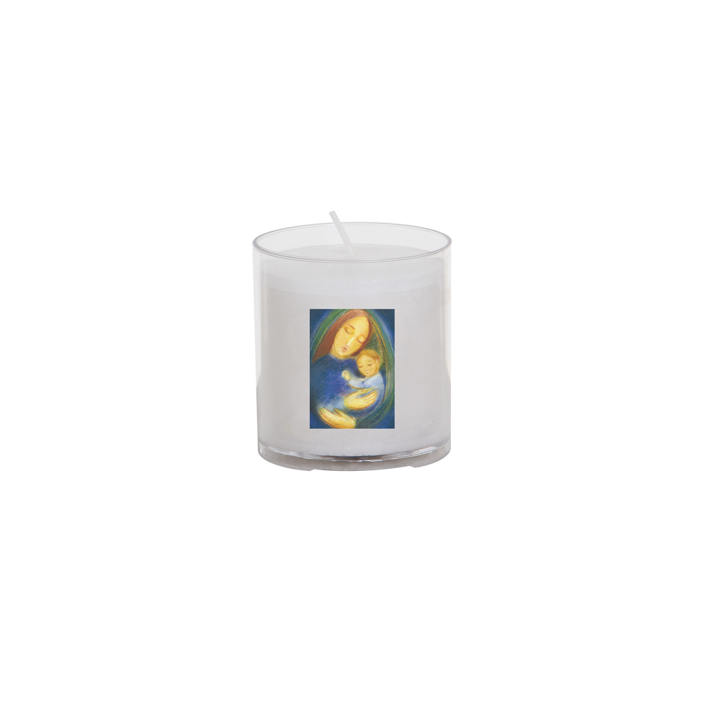 christmas seasonal transfer 24 hour votive light - madonna and child
