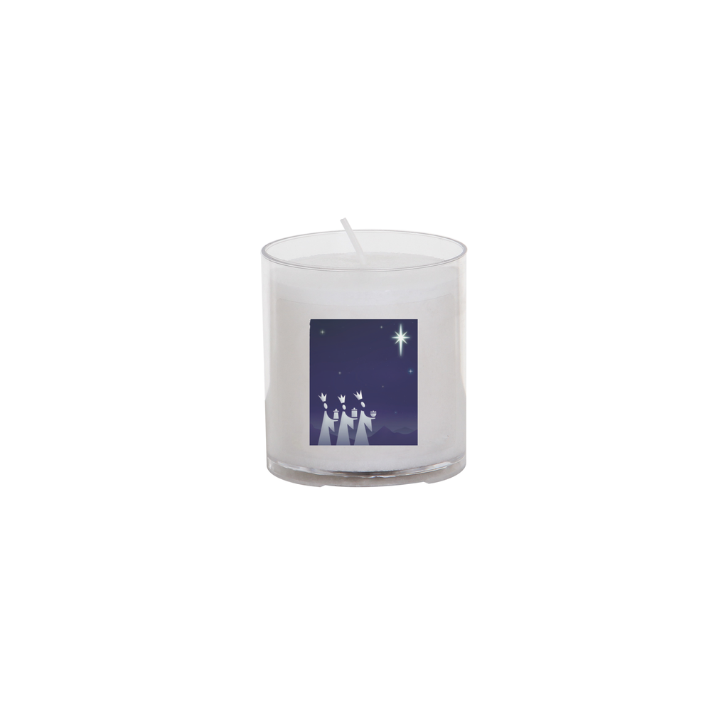 christmas seasonal transfer 24 hour votive light - kings and star