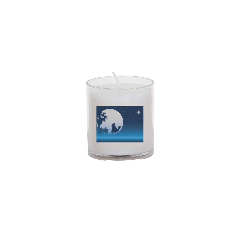 christmas seasonal transfer 24 hour votive light - moon and star
