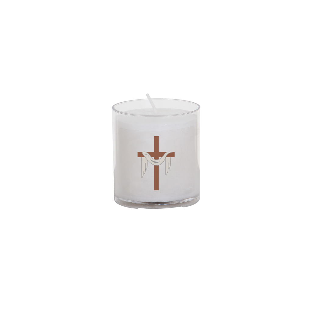 easter seasonal transfer 24 hour votive light - cross and shroud