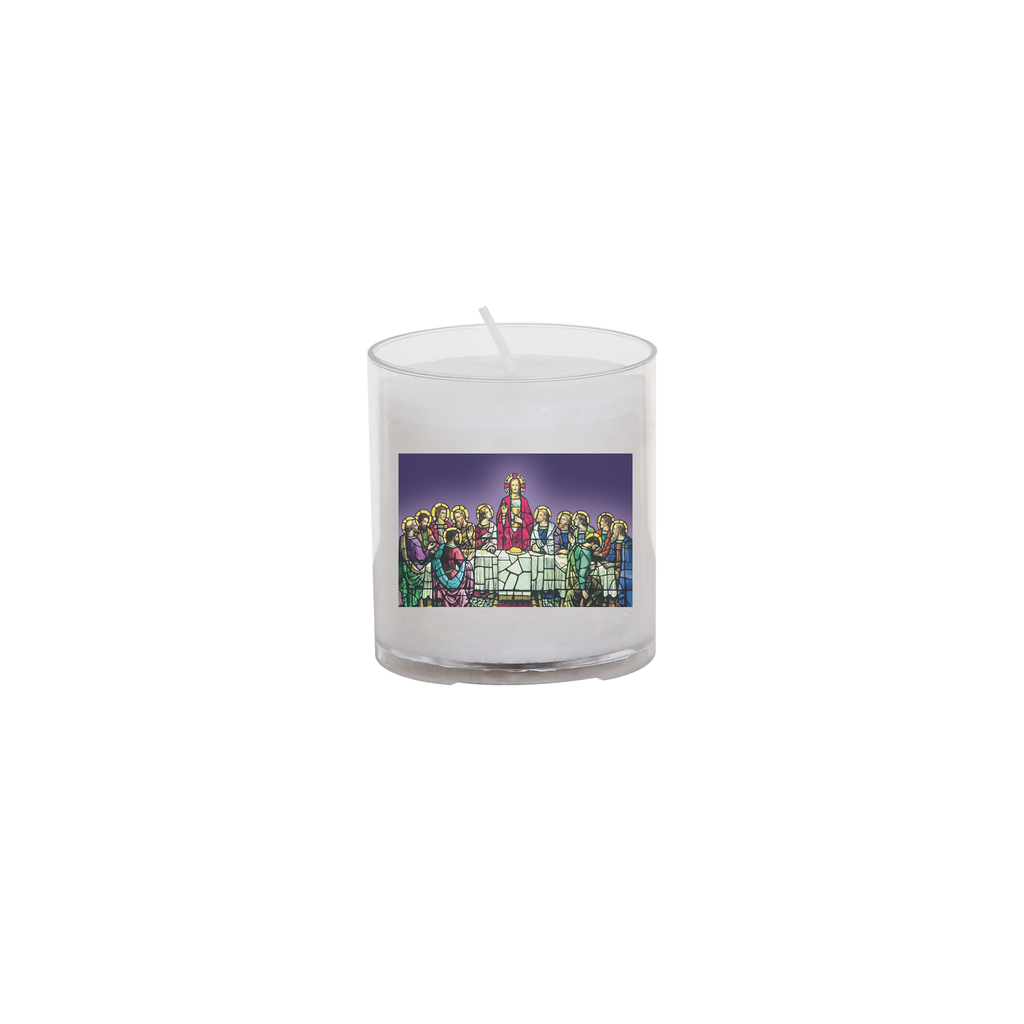 easter seasonal transfer 24 hour votive light - last supper