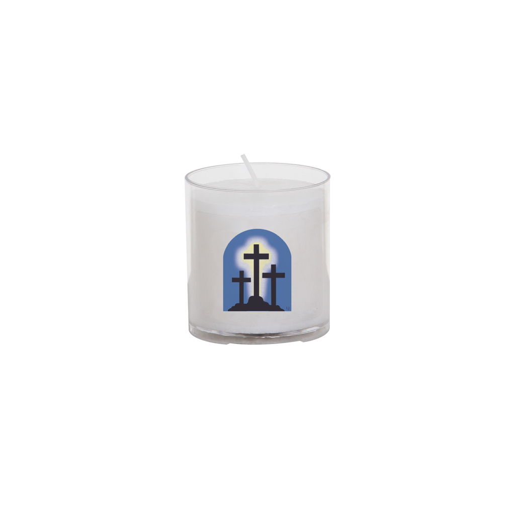 easter seasonal transfer 24 hour votive light - calvary