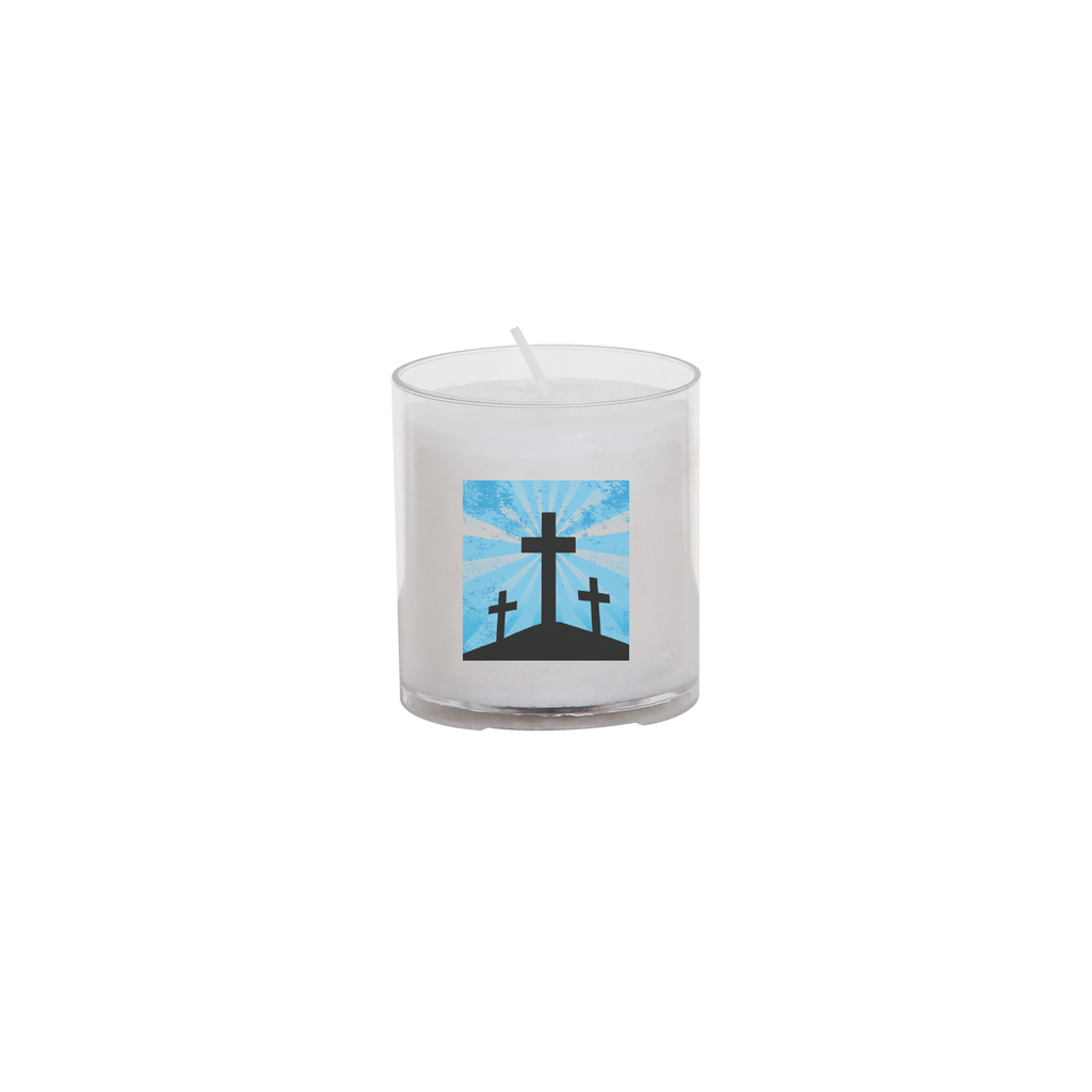 easter seasonal transfer 24 hour votive light - three cross