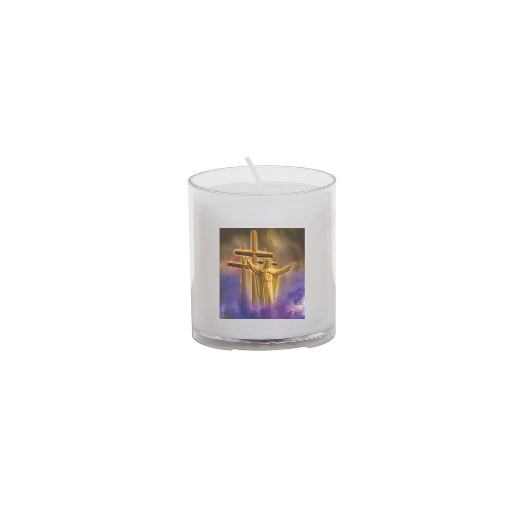 easter seasonal transfer 24 hour votive light - christ and cross