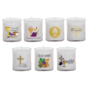 holy communion 24 hour votive lights - all designs