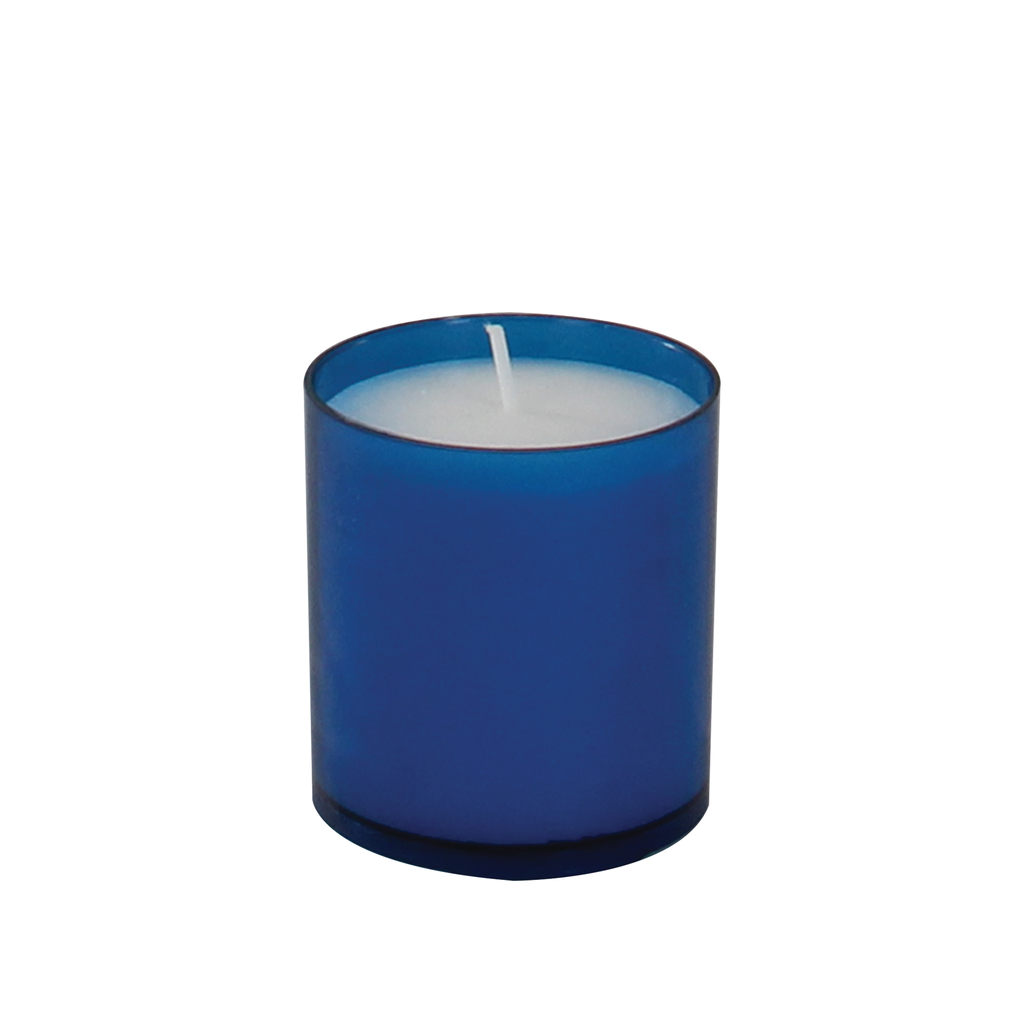 24 hour premium votive lights - blue